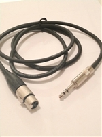 BP-3F - 1/4-inch TRS male to XLRF Cable - 3 Ft., Quantum Audio