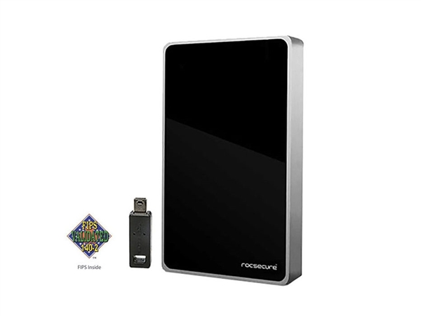 Rocstor Hawker HX, 2TB SSD, Secure-Encrypted Mobile Drive w/ USB3.0, eSATA