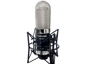 Cascade Microphones VIN-JET-L (Black Body/Nickel Grill) w/ Lundahl Trans Long Ribbon Microphone