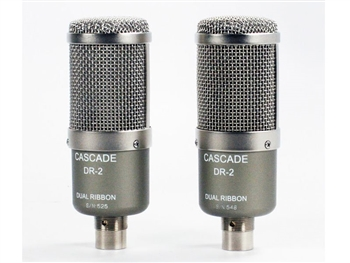 Cascade Microphones DR-2 Dual Ribbon Stereo Pair Microphones w/Lundahl Transformer