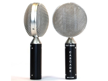 Cascade Microphones FAT HEAD Blumlein Stereo Pair (Black Body/Silver Radian Grill)