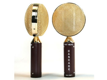 Cascade Microphones FAT HEAD Blumlein Stereo Pair (Brown Body/Gold Radian Grill)