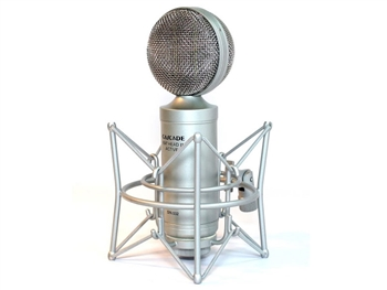 Cascade Microphones FAT HEAD II Active/Passive Silver/ Silver Grill - Ribbon Microphone