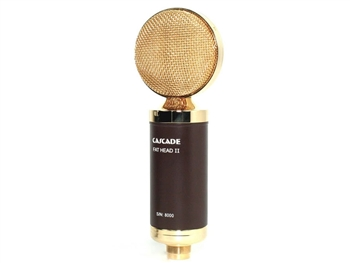 Cascade Microphones FAT HEAD II w/Lundahl Trans (Brown Body/ Gold Radian Grill) Ribbon Microphone