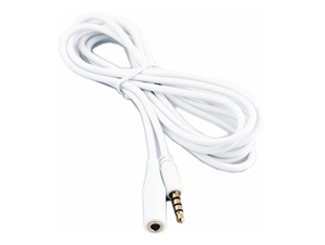 Mic W CB011 2 Meter extension cable, white