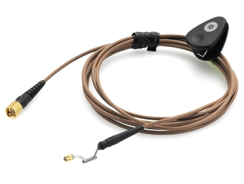 DPA CH16C03 - d:fine Headset Microphone Cable, Brown Hardwired 3 pin Lemo Connector for Sennheiser Wireless