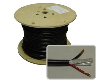 Rapcon Horizon CM-12-4, PER FOOT, 12 Gauge, 4 conductor Twisted Pair, BLACK jacket, BULK Speaker Cable