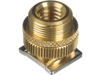 Windtech CM-57 - brass hot-shoe mic adapter