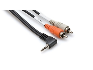 Hosa Cables CMR-206R Y Cable 3.5mm TRS Ra - RCA 6ft