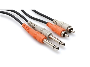 Hosa CPR-206 Dual 1/4-inch TS to RCA - 6m