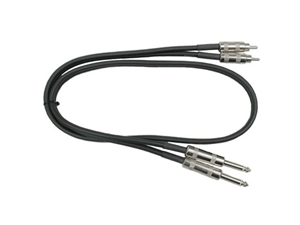 Hosa CPR-415 Dual Metal 1/4-inch TS to Metal RCA - 15 ft.