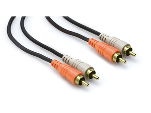 Hosa CRA-203AU Gold Plated - Dual RCA to RCA Cable - 3m