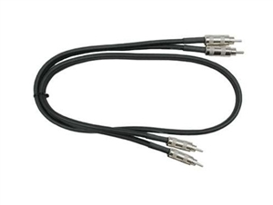 Hosa CRA-403 Dual RCA to RCA Cable w/ Metal Plug - 3 ft