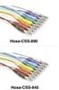 Hosa CSS-845 Patchbay Cable Set - 8 pcs 1/4-inch TRS to 1/4-inch TRS - 1.5 ft.