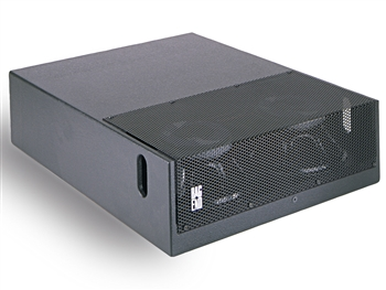 "Bag End D12E-DA Black Painted Low Profile Subwoofer Double 12"" Installation Enclosure"