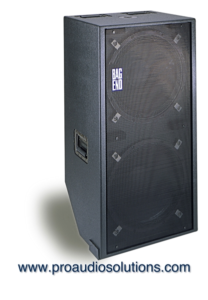 Bag End D18E-R - Double 18 Portable Enclosure with Casters and Front Cover