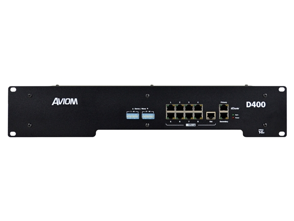 Aviom D400-Dante - A-Net Distributor, with A-Net Bridge input and Dante interface