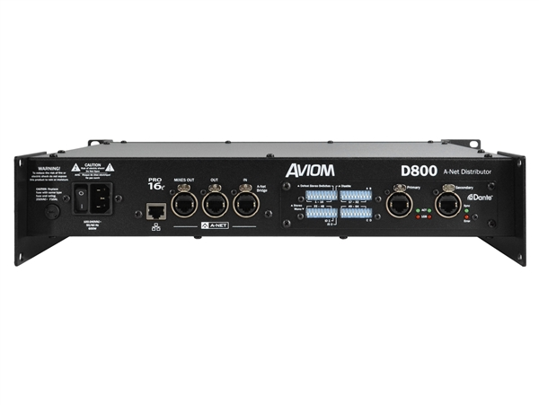 Aviom D800-Dante - A-Net Distributor, with A-Net Bridge input and Dante interface