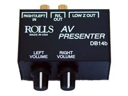 Rolls DB14b AV Presenter Passive Stereo Patch Box