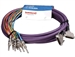 Switchcraft DB25MM10TRS- 8-Ch 1/4 TRS to DB25M/DB25M for INSERTS, Snake Cable. 10 Ft.