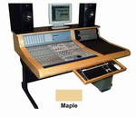 Sound Construction DCOM24/1-2, D-Command 24 Straight 1-2 Desk - Maple finish