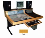 Sound Construction DCOM24/1-2, D-Command 24 Straight 1-2 Desk - Oak finish