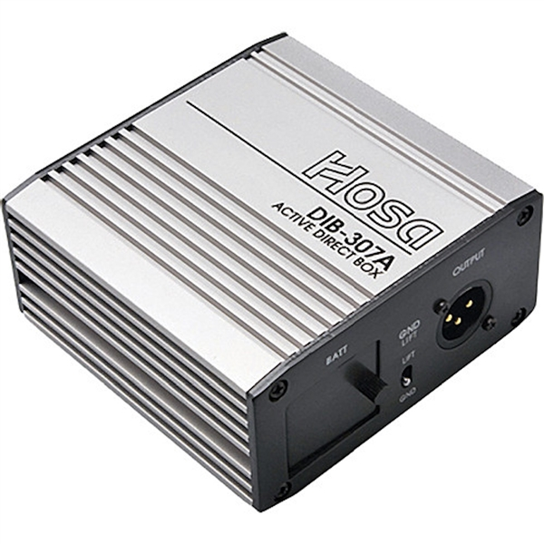 Hosa DIB-307A Active Direct Box w/ AC Adaptor Terminal