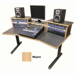 DS-HS/W DigiStation Home Studio desk - Maple finish, Sound Construction & Supply