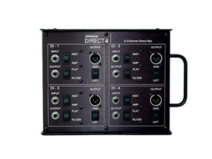 Whirlwind Direct4 - 4-channel Direct Box