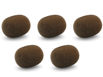 DPA DUA0568, Miniature Windscreens - 5pcs - Brown