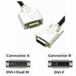 DVI-I M/F Dual Link Digital/Analog Video Extension Cable, 3m