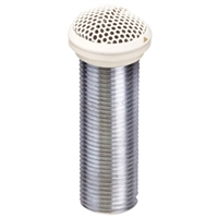 "Superlux E324W White 1"" diameter electret low profile flush-mount omni condenser boundary mic"