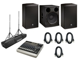 EV ELX112P Speakers,  ELX118P Sub and Mackie 1202-VLZ3 Mixer System Bundle