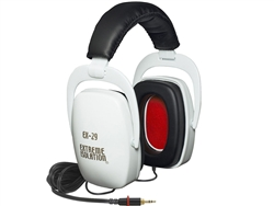 EX-29 White Extreme Isolation Headphones, Direct Sound