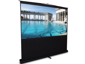 Elite Screens F60NWV2 ezCinema Series, Floor Stand Telescoping Pull Up Front Projector Screen