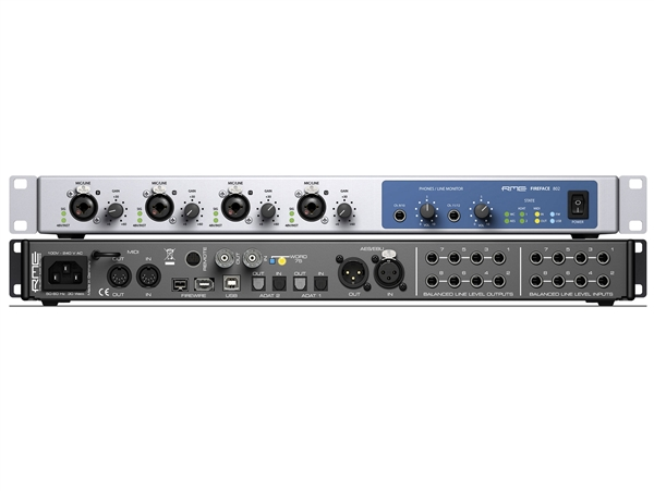 RME Fireface 802 Firewire or USB2 Audio Interface