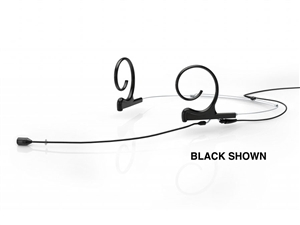 DPA FID88B03-M2 - d:fine Directional Headset Microphone, 4088, Black, Medium 100 mm, Dual Ear, Hardwired 3 Pin Lemo for Sennheiser