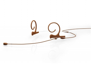DPA FID88C56-2 - d:fine Directional Headset Microphone, 4088, Brown, 120 mm, Dual Ear, TA5F for Lectrosonics