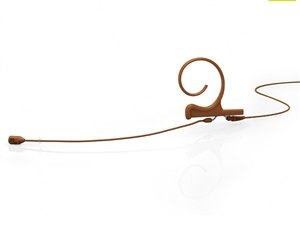 DPA FID88C34-M - d:fine Directional Headset Microphone, 4088, Brown,Medium 100 mm, Single Ear, Hardwired 3.5 mm Locking Ring for Sennheiser