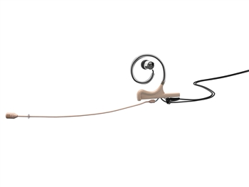 DPA FID88F56-IE1-B - d:fine 88 In-Ear Broadcast Headset Microphone, Beige, 120mm Directional Boom, Single- Ear, Single In-Ear,  TA5F for Lectro