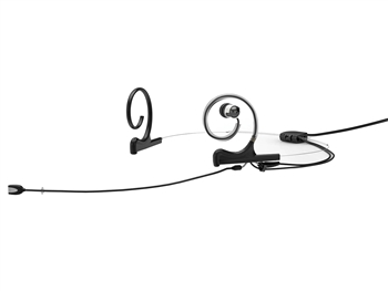 DPA FIDB34-2-IE1-B - d:fine In-Ear Broadcast Headset Microphone, Black, 120mm Directional Boom, Dual- Ear, Single In-Ear, 3.5mm Locking