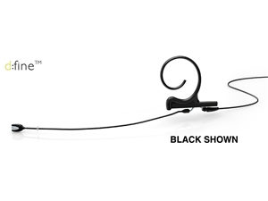 DPA FIDB34 - d:fine Directional Headset Microphone, Black, 120 mm, Single Ear, 3.5 mm Locking Ring for Sennheiser
