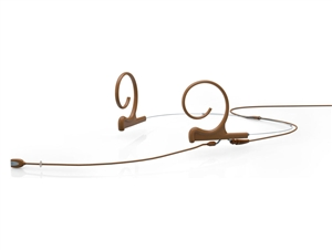 DPA FIDC03-M2 - d:fine Directional Headset Microphone, Brown, 100 mm, Dual Ear, 3 Pin Lemo for Sennheiser