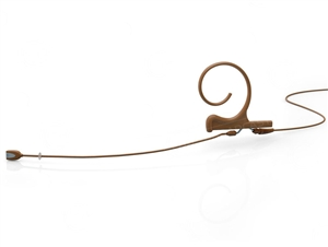DPA FIDC34-M - d:fine Directional Headset Microphone, Brown, 100 mm, Single Ear, 3.5 mm Locking Ring for Sennheiser