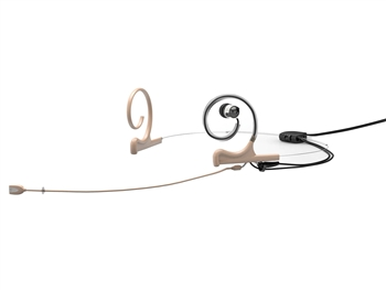 DPA FIDF00-2-IE1-B - d:fine In-Ear Broadcast Headset Microphone, Beige, 120mm Directional Boom, Microdot, Dual- Ear, Single In-Ear