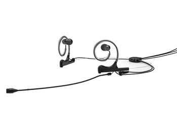 DPA FIO66B56-2-IE2-B - d:fine 66 In-Ear Broadcast Headset Microphone, Black, 110mm Omni Boom, Dual- Ear, Dual In Ear,TA5F for Lectrosonics