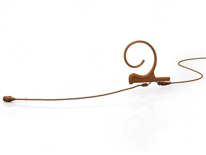 DPA FIO66C00 d:fine Omnidirectional Headset Microphone, 4066, Brown, Long 110 mm, Single Ear, Microdot (Adaptor Required)