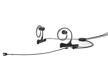 DPA FIOB10-2-IE2-B - d:fine In-Ear Broadcast Headset Microphone, Black, 110mm Omni Boom, Dual- Ear, Dual In-Ear, TA4F For Shure
