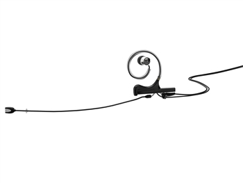 DPA FIOB03-IE1-B - d:fine In-Ear Broadcast Headset Microphone, Black, 110mm Omni Boom, Single- Ear, Single In-Ear, hardwired 3 Pin Lemo