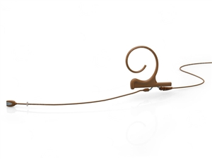 DPA FIOC10-S - d:fine Omnidirectional Headset Microphone, Brown, Short 40 mm, Single Ear, TA4F Adaptor for Shure